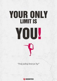 Motivační plakát Limit (Anglicky/Česky)