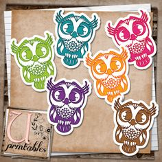 U printables by RebeccaB: FREE Printable - Owls