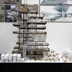 Informal Urbanism - Dharavi Water Tower by Lawson Lai, via Behance Layered Architecture, Architecture Model Making, Study Architecture, Architecture Images, School Architecture, Interior Architecture, Vertical City, Building Information Modeling, Arch Model