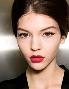 AW13 Dolce & Gabbana classic cat liner and stained berry lips (possible wedding look)