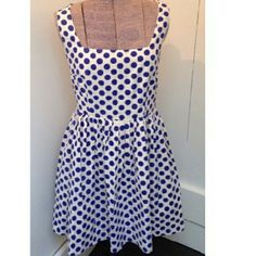 DELIAS Polka Dot Dress I see you, pin up bombshell! 50s inspired polka dot fit and flare dress. Has extra hem allowance to make longer if needed. Delias Dresses