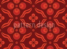 Ottomani Red by Figen Topbas Fukara available for download on patterndesigns.com Retro Pattern, Pattern Design, Floral Artwork, Vector File, Dark Red, Surface Design, Design Art, Mandala, Traditional