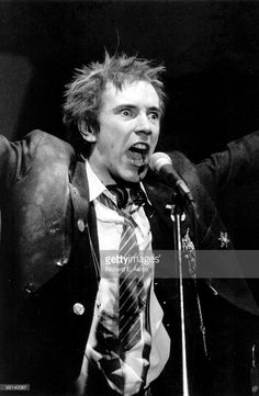 Photo of Johnny ROTTEN and SEX PISTOLS; Johnny Rotten (John Lydon) performing live onstage at The Great South East Music Hall, Atlanta on final tour on January 05 1978