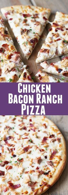 Chicken Bacon Ranch Pizza -a super easy pizza that will delight anyone who loves. - Chicken Bacon Ranch Pizza -a super easy pizza that will delight anyone who loves bacon and ranch! Chicken Bacon Ranch Pizza, Chicken Pizza Recipes, Bacon Pizza, Pizza Ranch, Pizza Pizza, Pizza Food, Healthy Pizza Recipes, Cooked Chicken, Healthy Homemade Pizza