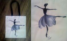 dancer, ballerina, ballet Ulala eco bag www.facebook.com/ulala.art