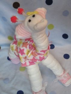 Diaper Giraffes - Big Diaper Animals, Baby Shower Decoration, Mom to Be Gift, Nursery Decoration on Etsy, $23.50