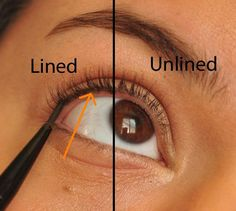Tightlining is good for those who don't want to look too done. Dot liner in between your lashes above your waterline for subtle definition.
