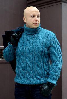 Hand Knitted Men's Sweater, Men's Fisherman's sweater, Cable Knit Sweater for Men, Hand Knit Sweater Men