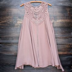 taupe boho crochet lace dress