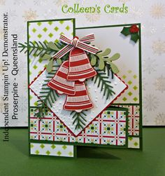 """The card for Global Design Project   115 """" Christmas Joy"""" Challenge is a Double Z Fold Card, I love making cards using this Z fold"""