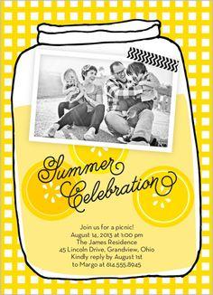 Sweet Lemonade Summer Invitation on Shutterfly....so darn cute and summery!
