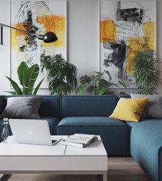 Plants galore and big art