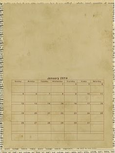 Gina's Designs: Free Calendar Printable 1