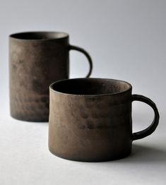 céramique japonaise : Keiichi Tanaka, mug, tasse, brun