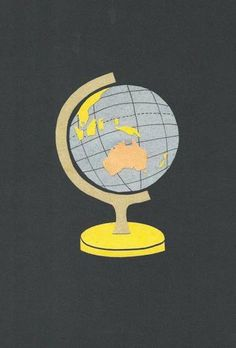 Globe by Sass Cocker. Great art for kids rooms and the nursery.