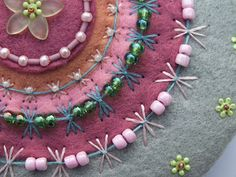 ella's craft creations: TAST 2012 BUTTERFLY CHAIN, WEEK 21 !  butterfly chain with beads on felt