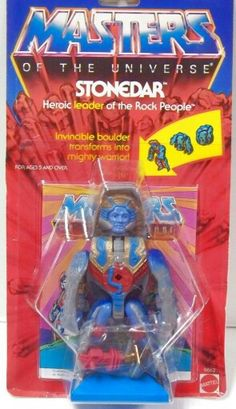 Rokkon, a young and heroic meteorite-man released as part of the Masters of the Universe line of toys. 90s Toys, Retro Toys, Vintage Toys, He Man Figures, Modern Toys, Cartoon Tv Shows, She Ra Princess Of Power, Vintage Classics, Childhood Memories