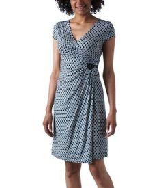 Crossover print dress indigo print - Promod