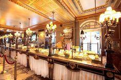 Ladurée Bakery in Paris. The Ritz Paris, Paris 3, Paris France, Laduree Paris, French Bakery, Sweet Bakery, Bakery Design, Pastry Shop, City Lights
