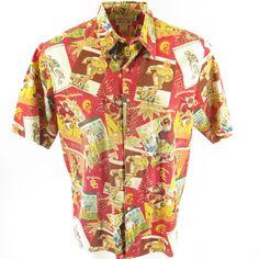 7eabb366 Reyn Spooner Hawaiian Shirt Mens XL Southern California Trojans University