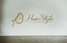 Fashion Girl Hairstyle Logo @creativework247