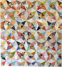I love the text backgrounds!! Kaleidoscope quilt pic