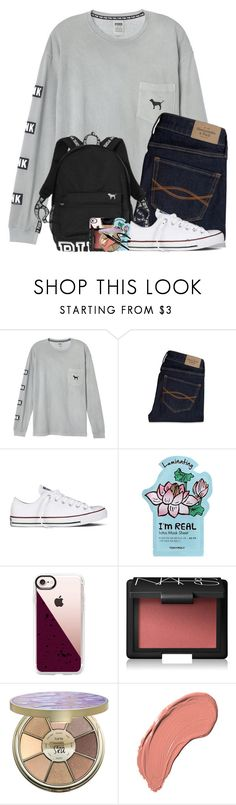 """""""1 away from my goal!"""" by arielforlife ❤ liked on Polyvore featuring Abercrombie & Fitch, Victoria's Secret, Converse, TONYMOLY, Casetify, NARS Cosmetics, tarte and NYX"""