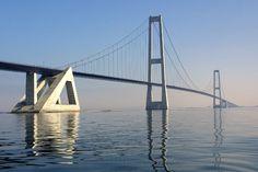 El puente colgante Gran Belt - Dinamarca