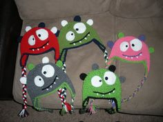PATTERN BugEyed Monster Crochet Hat PATTERN by ShopKimberlie