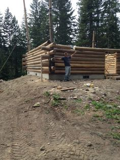 Build a butt and pass log home with my hubby troncos de for Butt and pass log home plans