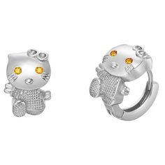Golden Eyes Cat Earrings
