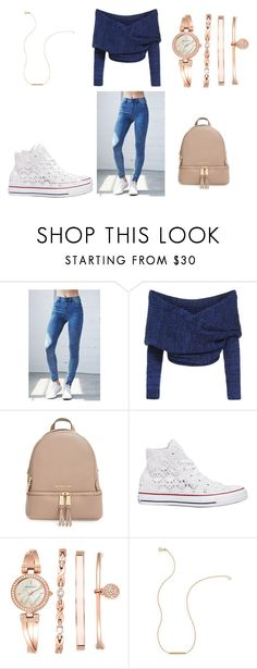 """""""For school some day"""" by ekarlsson ❤ liked on Polyvore featuring Bullhead Denim Co., MICHAEL Michael Kors, Converse and Anne Klein"""