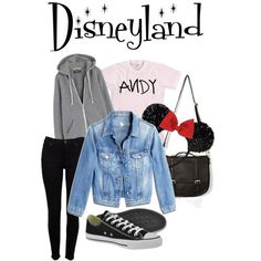 Disneyland Outfit Ideas by musicluva18 on Polyvore featuring American Apparel, MiH Jeans, Hudson and Converse