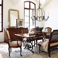 Ralph Lauren dining room. Light and dark. Clean.