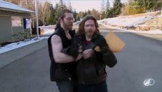 Bam Bam messing with his brother Bear. Alaskan Bush People.