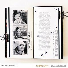 Like It Was Yesterday Baby Scrapbook, Travel Scrapbook, Scrapbook Cards, Scrapbooking, Franklin Covey, Mini Album Tutorial, Studio Calico, Smash Book, Travelers Notebook