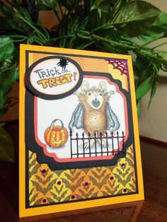 Stamp This- Halloween card using the new stamps from #Stampendous. By Jamie Martin.  #cre8time
