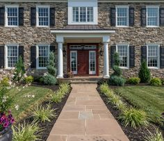 Dramatic in appearance with exceptional dimension and texture, Shadow Rock is the stone of choice for creative expression and masonry craftsmanship. Eldorado Stone, Manufactured Stone, Stone Veneer, Sidewalk, Exterior, Patio, Flooring, Rock, Mansions