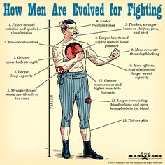 How Men Are Evolved For Fighting According to Science