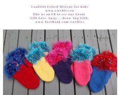 Animal Hats, Mittens, Great Gifts, Felt, Kids, Fingerless Mitts, Young Children, Felting, Children