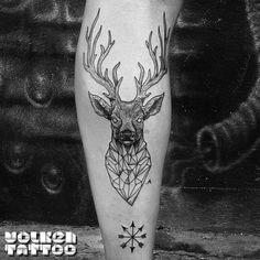 Deer geometric tattoo