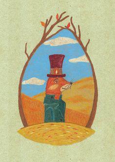 Fall of the Fox original illustration   #fox #etsy