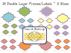 30 Free Printable Frames/Labels free printables for middle school and maybe 4th and 5th