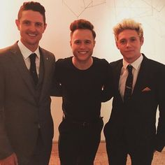 Niall with Justin Rose and Olly Murs at the #HoranandRose charity event today - 05/29/16