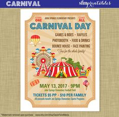 Family Fundraising Wordings For Football Carnival Posters, Kids Carnival, Carnival Activities, Spring Carnival, School Carnival, Carnival Ideas, School Community, Community Events, Christmas Invitation Wording