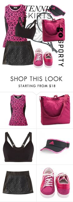 """""""#73 Go Sporty. Tennis"""" by natahaya on Polyvore featuring мода, Fendi, Chanel, Under Armour, The Upside, adidas и L.L.Bean"""