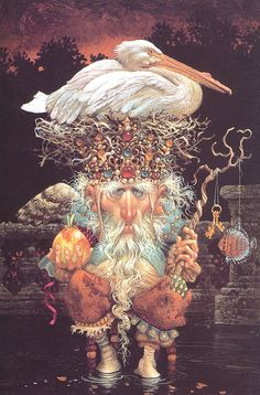 'Pelikan King' - by James C.Christensen (born Sept 1942) is a popular American artist of religious and fantasy art.