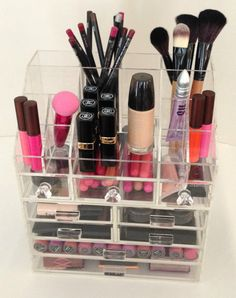 Clear Acrylic Makeup Organizer 6 Drawer by AcrylicOrganizers,