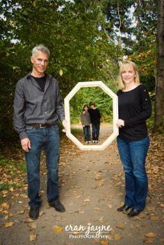 family photos using an empty frame