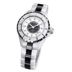 slwce01001cz white and black ceramic bracelets watches